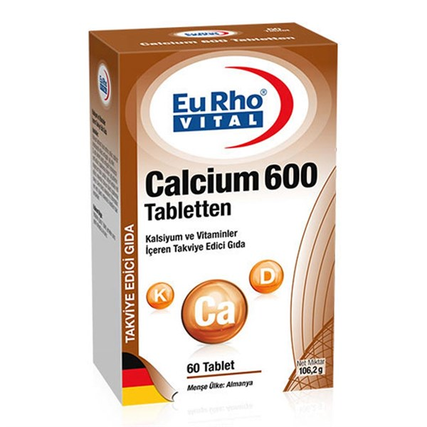 Eurho Vital Calcium 600 Mg 60 Tablet