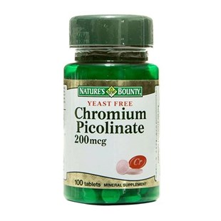 Natures Bounty Chromium Picolinate 200 mg 100 Tablet