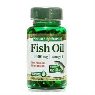 Natures Bounty Fish Oil 1000 Mg Omega-3 50 Softjel