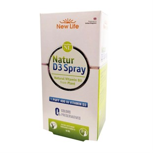 New Life Natur D3 400 İÜ Spray 10ml