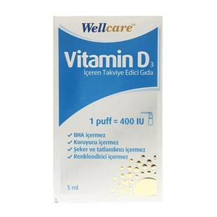 Wellcare Vitamin D3-400 IU 5ml Sprey